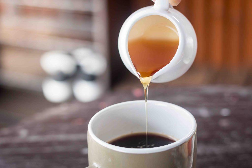 black coffee with honey