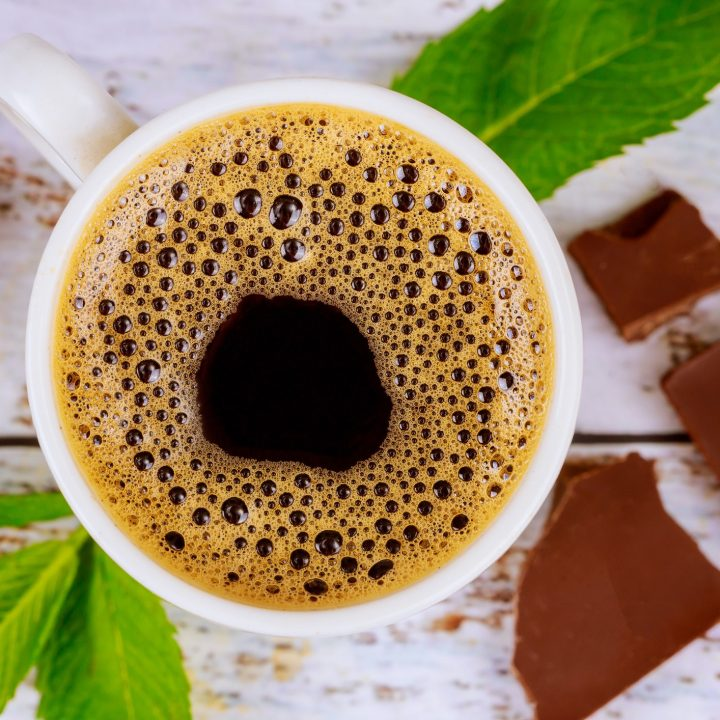 Mint Mocha Hot Chocolate Coffee