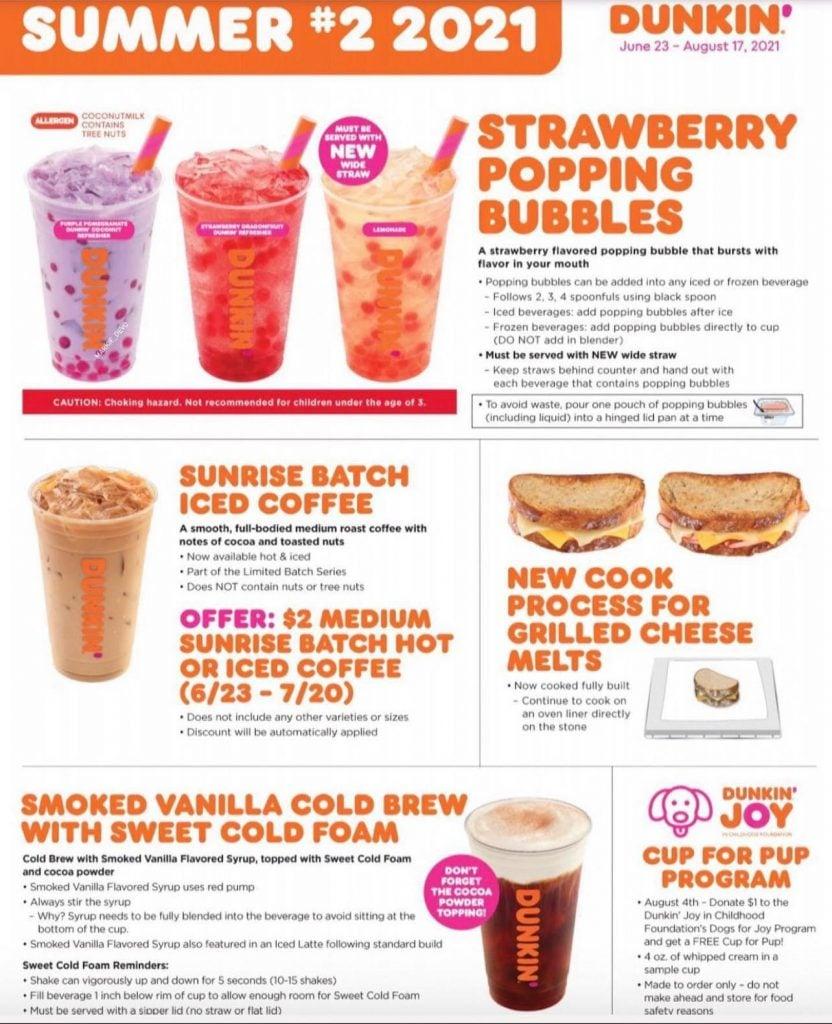 Dunkin Summer Menu #2