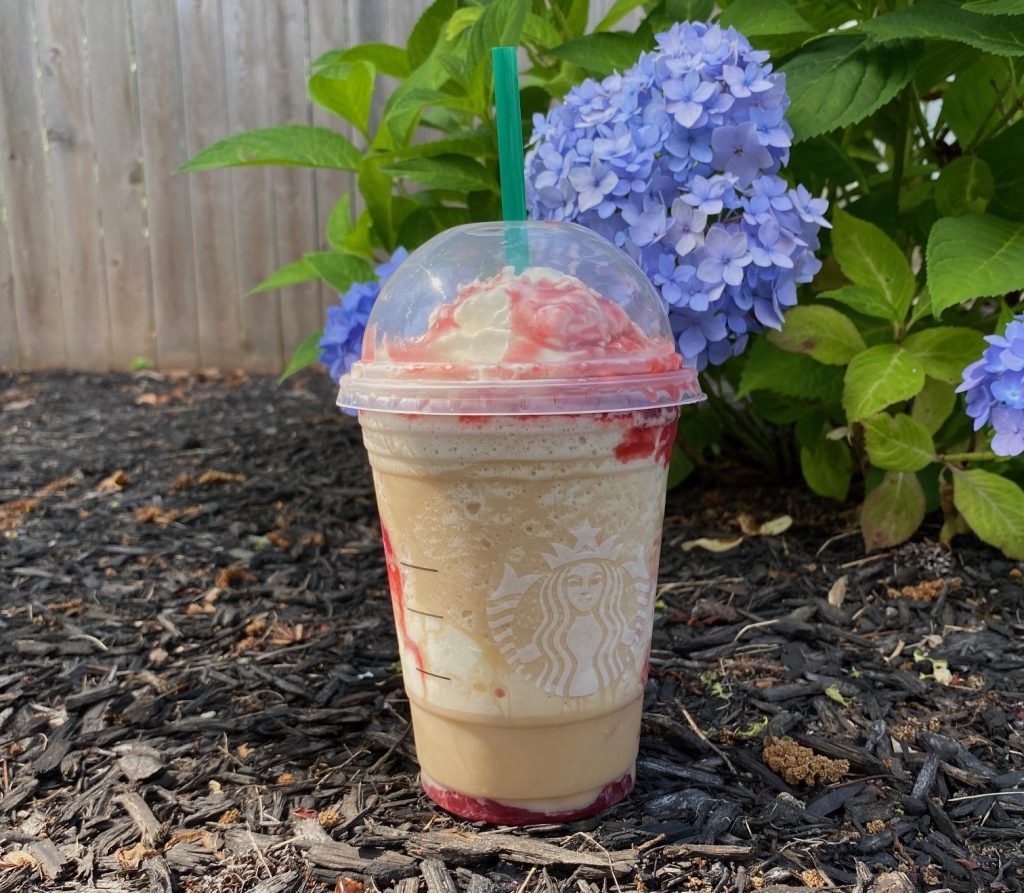 Starbucks Strawberry Funnel Cake Frappuccino Review