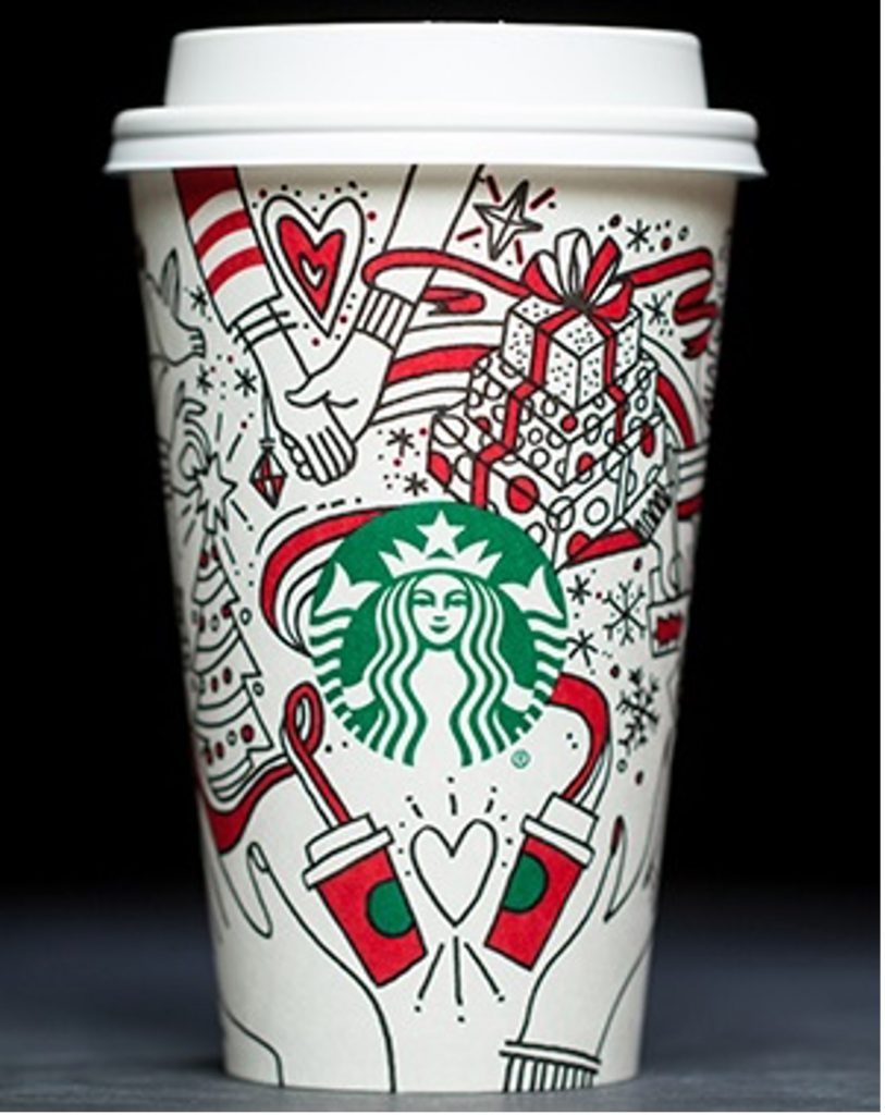 2017 Starbucks Hands Holding Cup