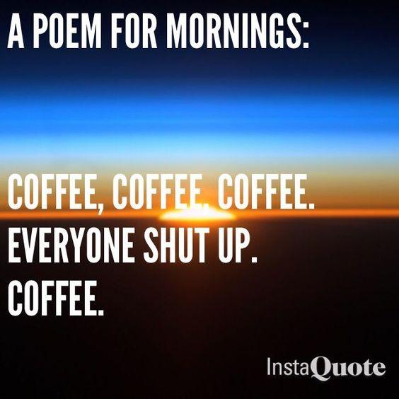 Everyone shut up coffee meme