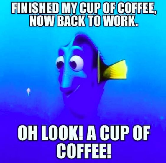 Oh Look A Cup of Coffee Meme