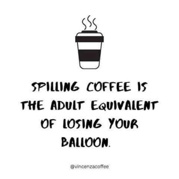 Losing your balloon coffee meme